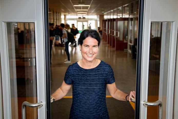 Ingrid de Vries op het Willibrord Gymnasium.