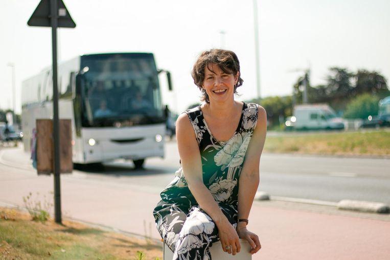 Psychologe Anouck begeleidt onder meer buschauffeurs. Zij lijken bij dit weer meer met agressie te maken te krijgen.