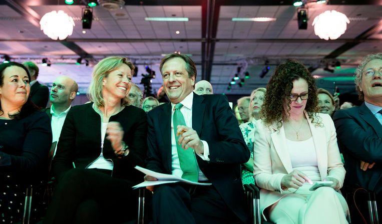 Met partijleider Alexander Pechtold op het D66-congres in 2016 Beeld ANP