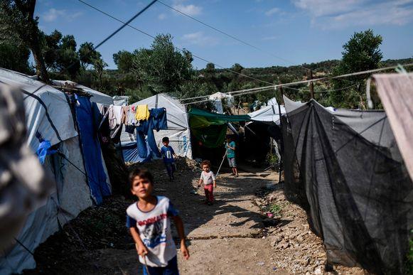 Archiefbeeld, vluchtelinenkamp Moria op Lesbos.