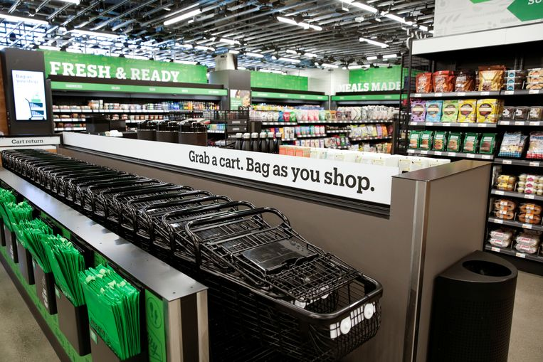 Amazon Go Grocery in Seattle.