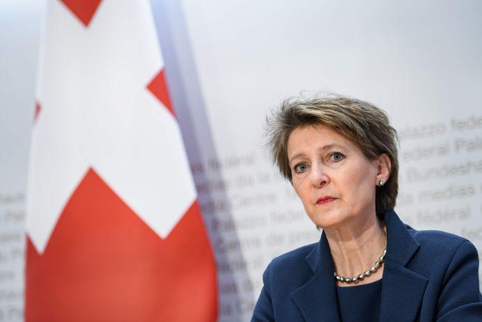 La présidente suisse, Simonetta Sommaruga.