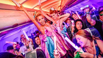 Tomorrowland, dat is ook: fuiven op het vliegtuig