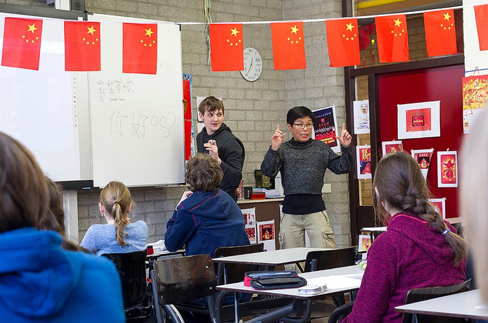 Chinese les op het Stedelijk College