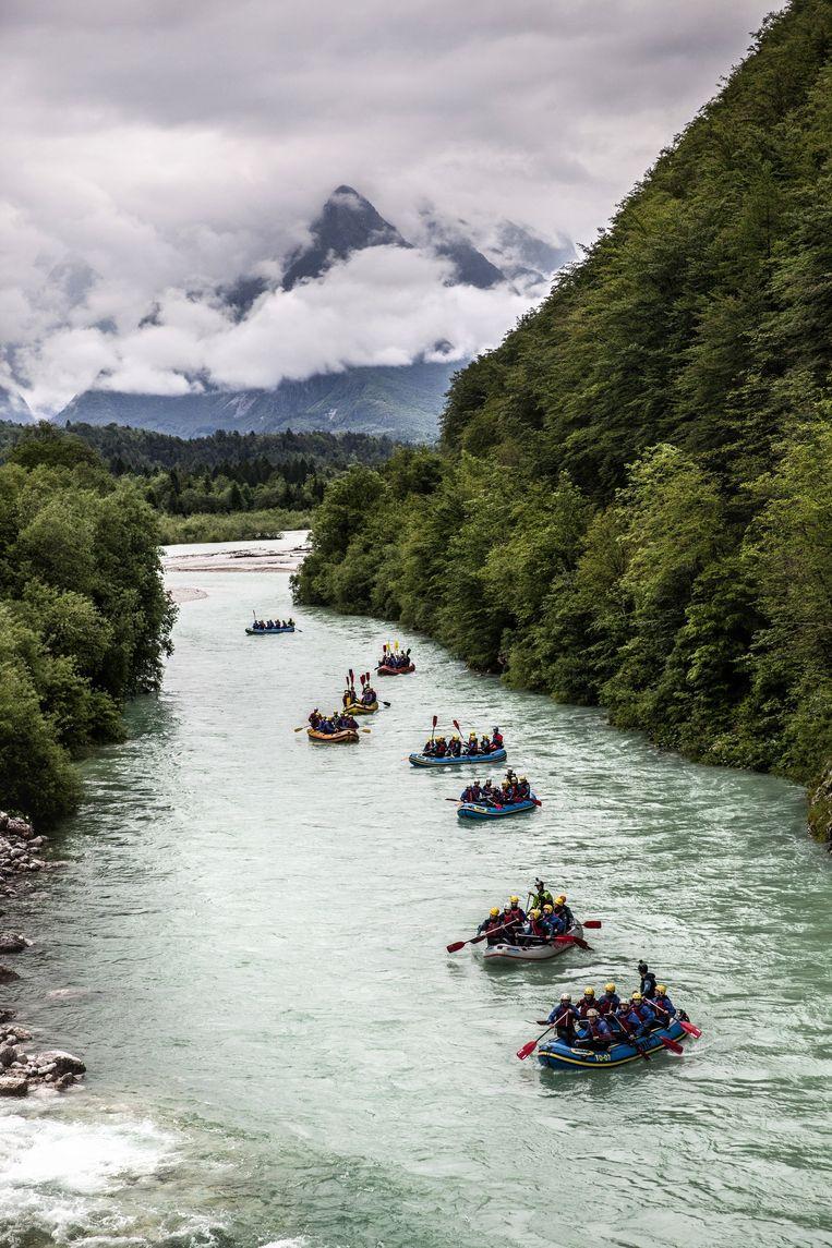 Raften op de Socarivier. Bij de rivier zijn ook scènes van Narnia opgenomen. Beeld Aurélie Geurts