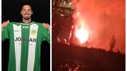 Fans Malmö gaan nu nóg een stap verder en steken standbeeld Ibrahimovic in brand