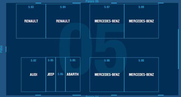 Paleis 5: Abarth - Alfa Romeo - Audi - Fiat - Jeep - Mercedes - Renault