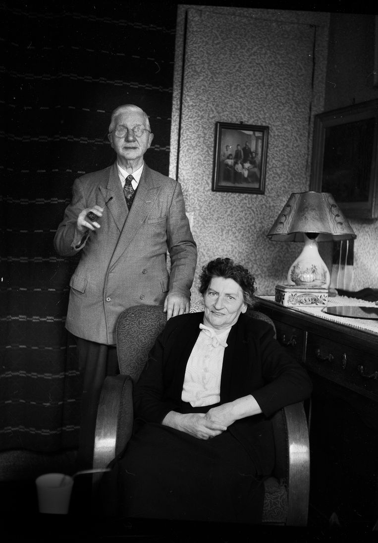 Ouders van Karel Appel 1958. Beeld Eddy Posthuma de Boer