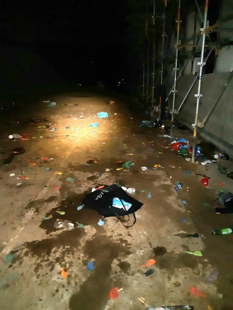 Achtergelaten afval. Beeld Politie