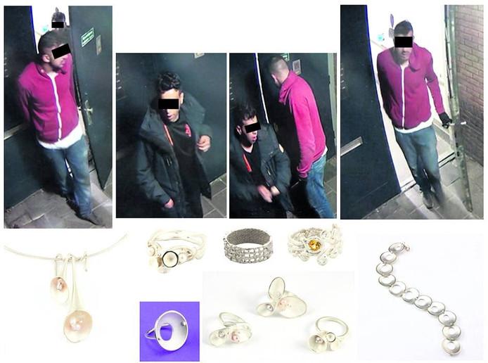 De inbrekers die Rolisa Sweegers op internet heeft gezet.