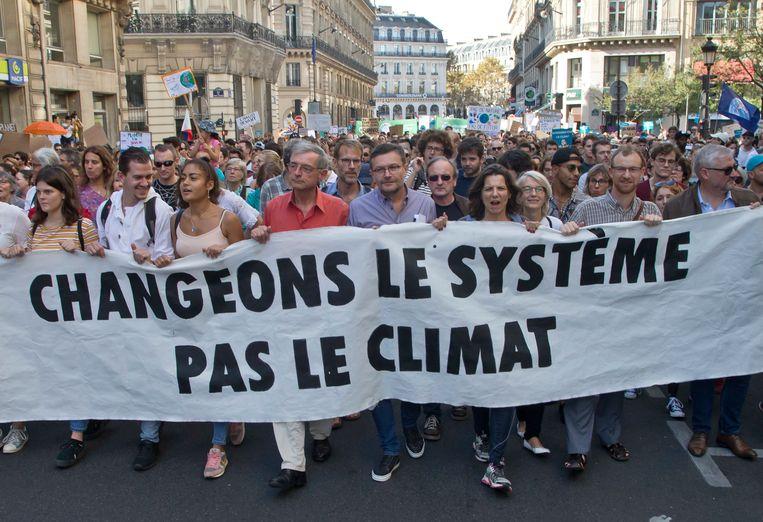 Betogers in Parijs