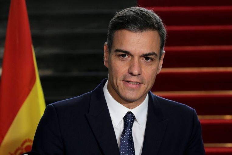 De Spaanse premier Pedro Sánchez denkt al aan nieuwe verkiezingen. Beeld Reuters