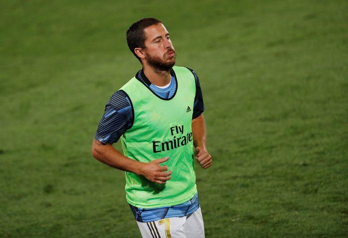 Pas encore à 100%, Eden Hazard s'est contenté de l'échauffement lundi soir.