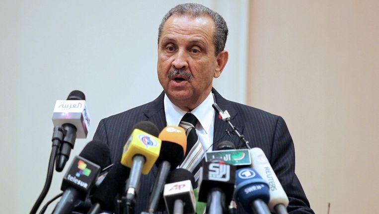 Oud-premier Shokri Ghanem van Libië. Beeld ANP