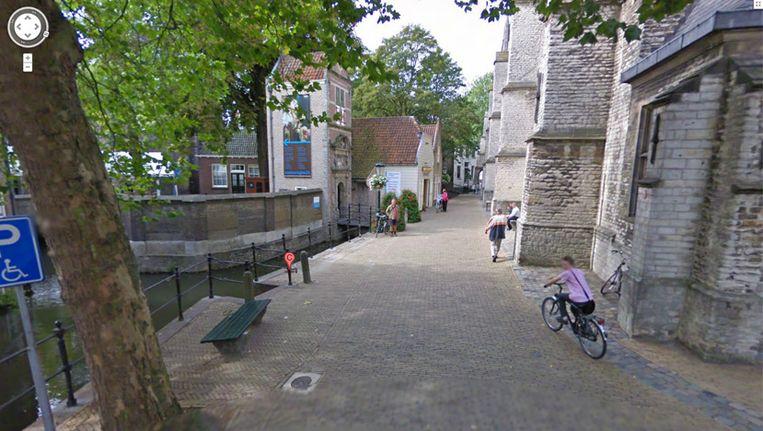 De ingang van Museum Gouda (screenshot Google Streetview) Beeld