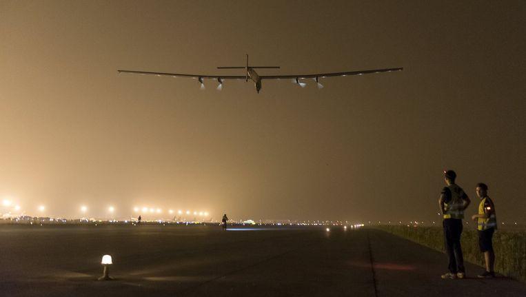 De Solar Impulse 1 in Nanjing, China. Beeld reuters