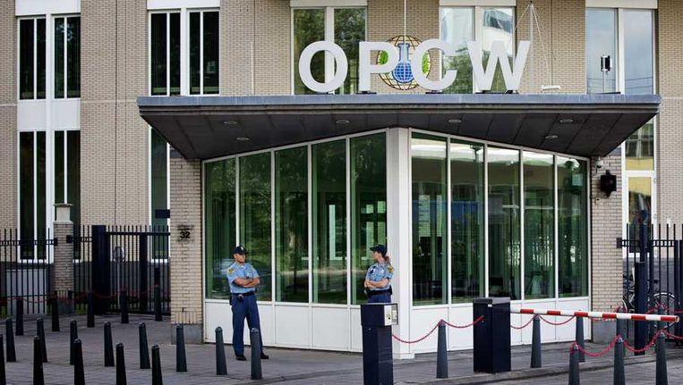 Het hoofdkantoor van de OPCW, gestationeerd in Den Haag. Beeld anp