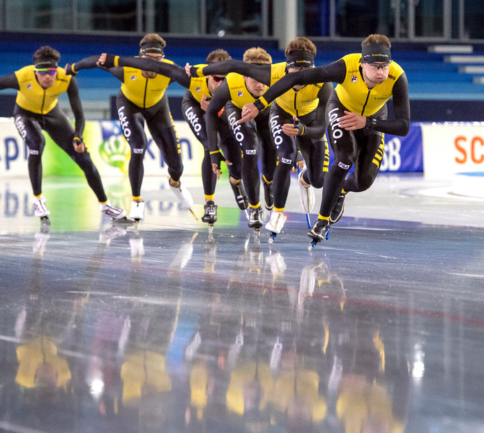 De schaatsploeg van Jumbo-Visma.