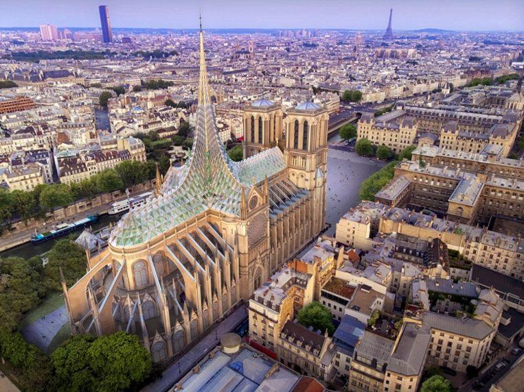 Ook de Belgische architect Vincent Callebout wil duurzaam gaan bouwen, met een combinatie van glas en hout. Beeld null