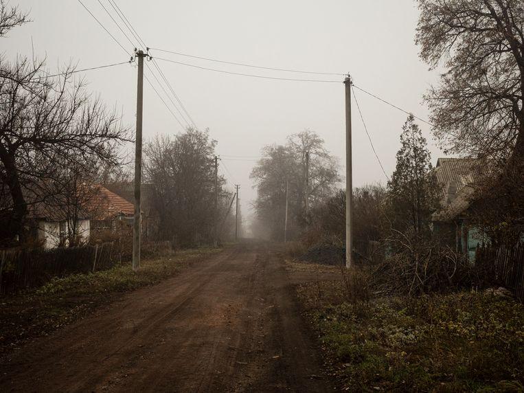 In Oekraïne, hier bij Zolote in het oosten van het land, zijn familiebedrijven van boeren in de jaren dertig al de nek omgedraaid. Beeld Hollandse Hoogte / l'Agence VU