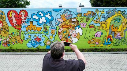 Indrukwekkende muurschildering aan Huis van de Wereld