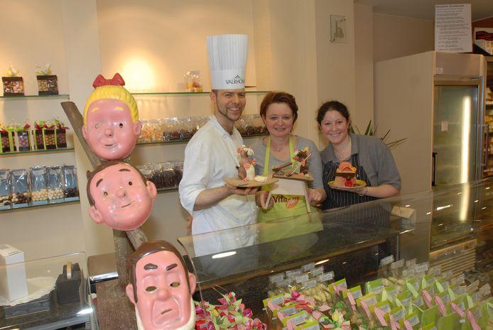 De mensen van Bakkerij Biasetto, met onder andere Nathalie Van Duüren en Fabrice Debroux.