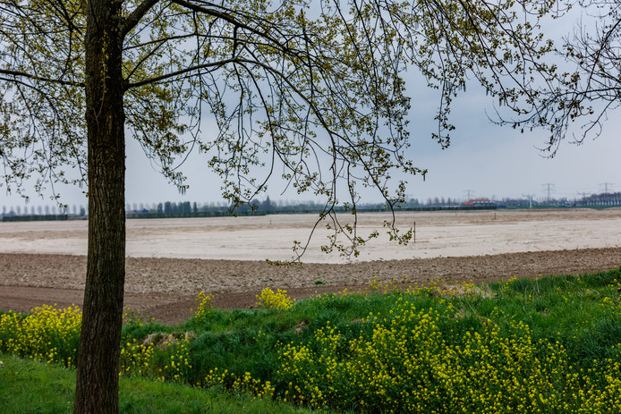 Het Havenschap heeft eerder een gigantische hoeveelheid grond naar het toekomstige terrein van het Logistiek Park Moerdijk gebracht. Dit was de situatie afgelopen voorjaar.