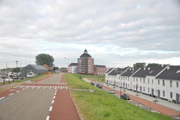 Een impressie het plan Kruittoren in Tholen.