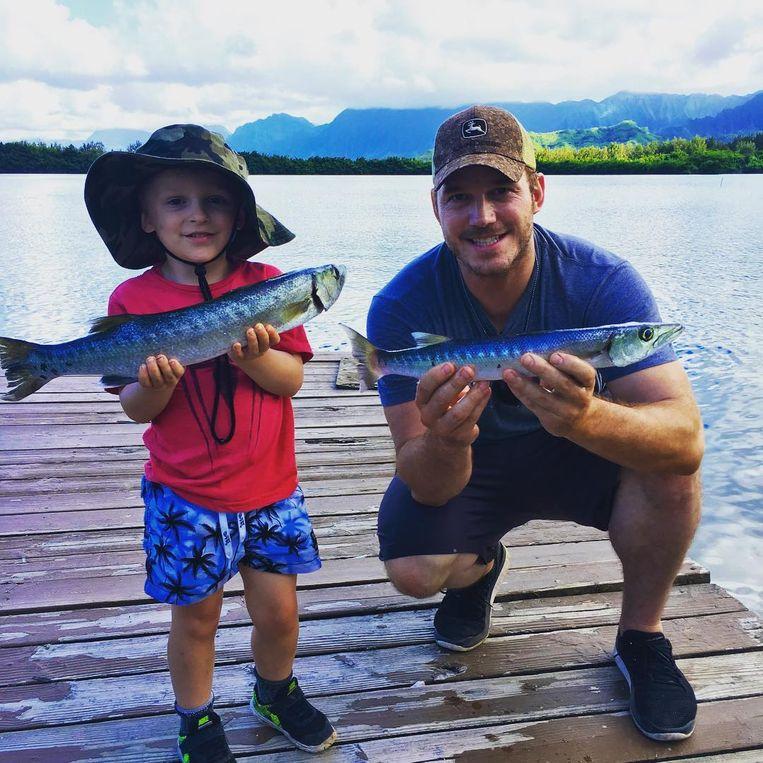 Chris Pratt en zijn zoontje Jack.