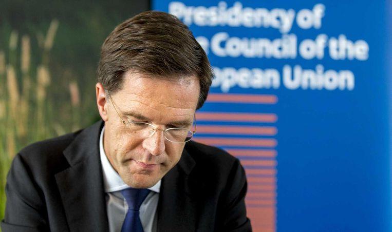 Rutte overlegde vandaag in Brussel over de Brexit Beeld anp