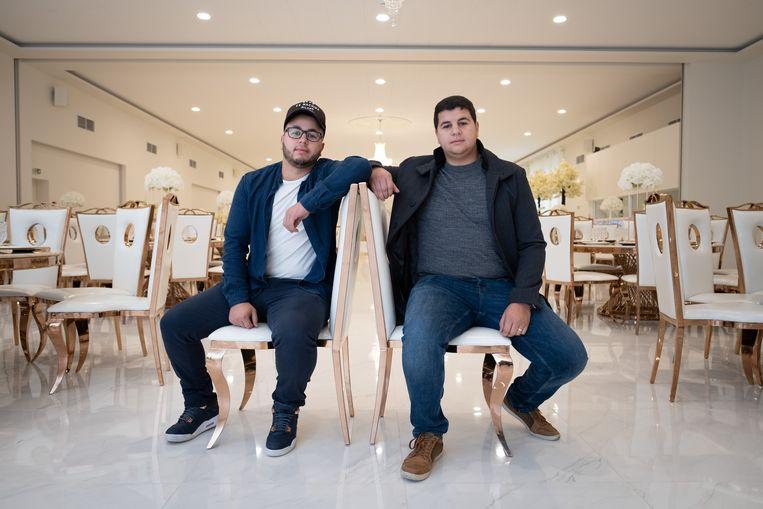 Mohamed en Ali Amarchouh in feestzalencomplex Nisrine.