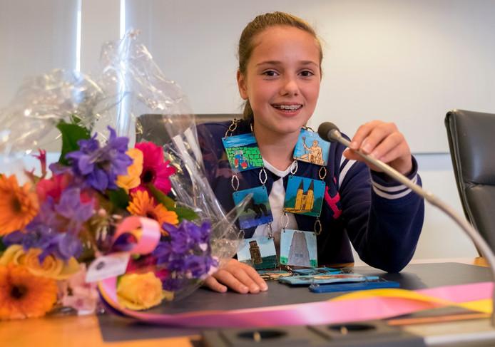 Juliëtte van de Giessen (11) uit Bruinisse is de nieuwe kinderburgemeester van Schouwen