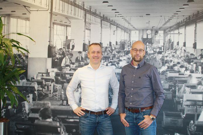 Jan van Vroenhoven (links)) en Wilco Crone van TechMatch.