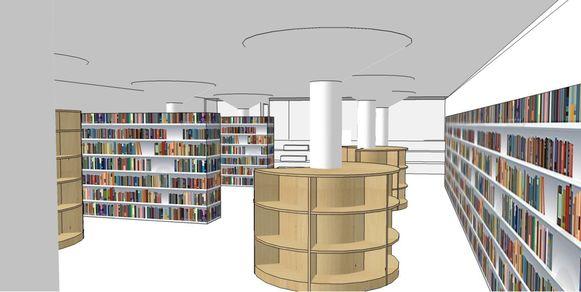 """""""Boekenbomen"""" voor de jeugd- en adolescentenafdeling."""