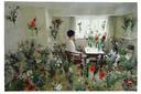 Jenny Ymker, Mille Fleurs (2018), gobelin, 162 x 244 cm