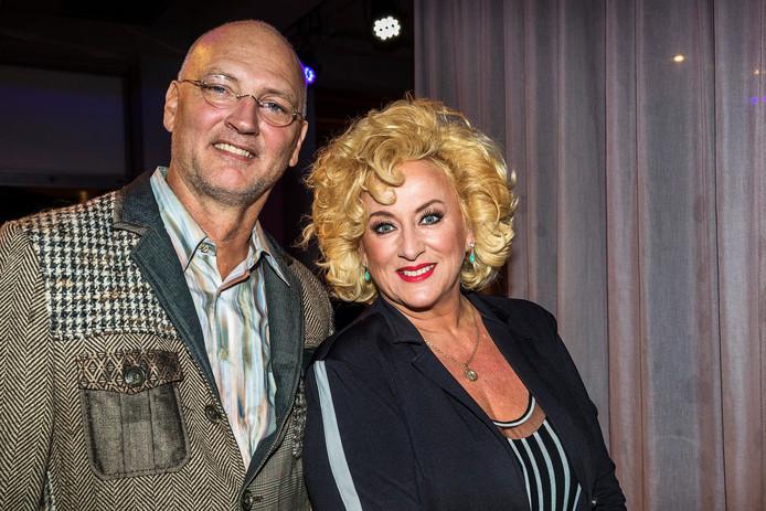 Karin Bloemen met partner Marnix Bustra.