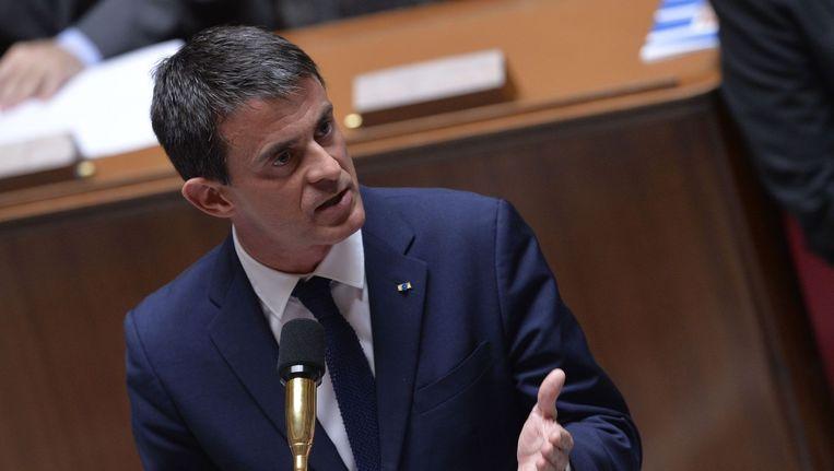 De Franse premier Manuel Valls.