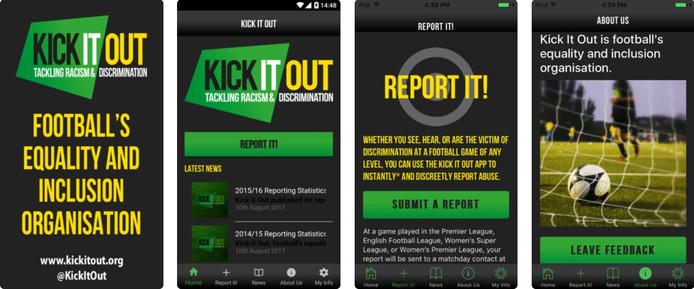 De app van Kick it Out is in Nederland niet beschikbaar.
