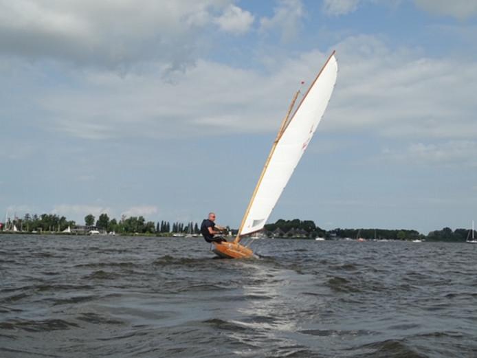 Stef Gierveld wist dit jaar de larkenklasse in Sneek te winnen. Zijn vader Harry werd zesde.