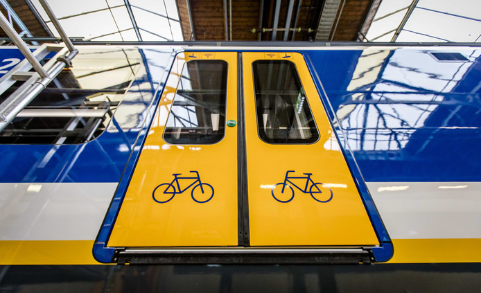 De nieuwe Sprinter van de Nederlandse Spoorwegen.