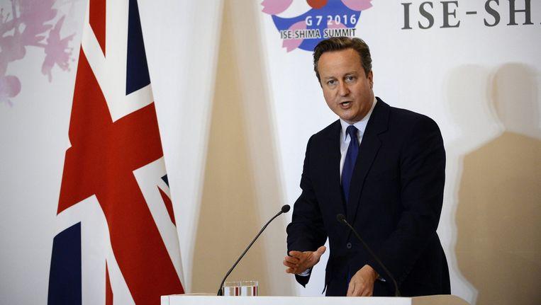 De Britse premier David Cameron. Beeld afp