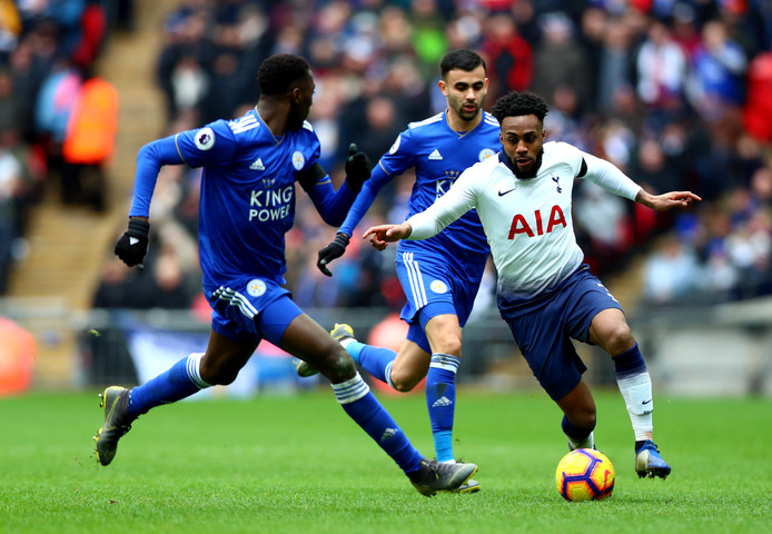 Danny Rose in actie tegen Leicester City (3-1 winst) afgelopen zondag.