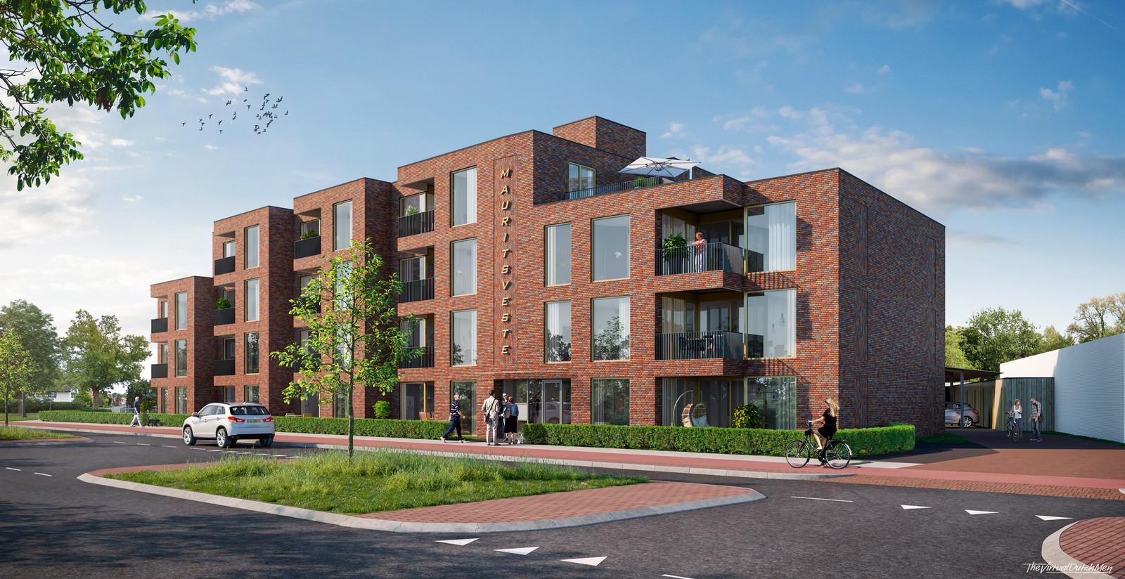 Bouwbedrijf Goossen Te Pas bouwt de Maurits Veste aan de Oliemolenstraat in Oldenzaal.