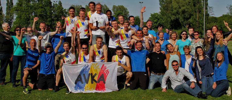 Een archiefbeeld van atletiekclub AVKA.