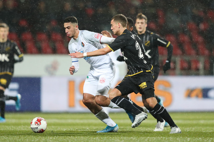 06-12-2019: Voetbal: Telstar v NAC Breda: Velsen Eredivisie season 2019-2020 L-R: Reda Kharchouch of Telstar, Colin Rosler van NAC Breda