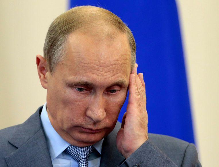 'Kortom, door de sancties wordt de kans groter dat Poetin uiteindelijk voor de militaire optie kiest.' Beeld REUTERS