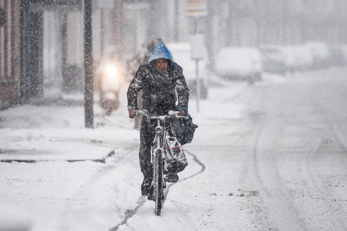 Sneeuwval in Enschede