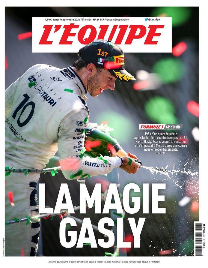 Voorpagina L'Équipe