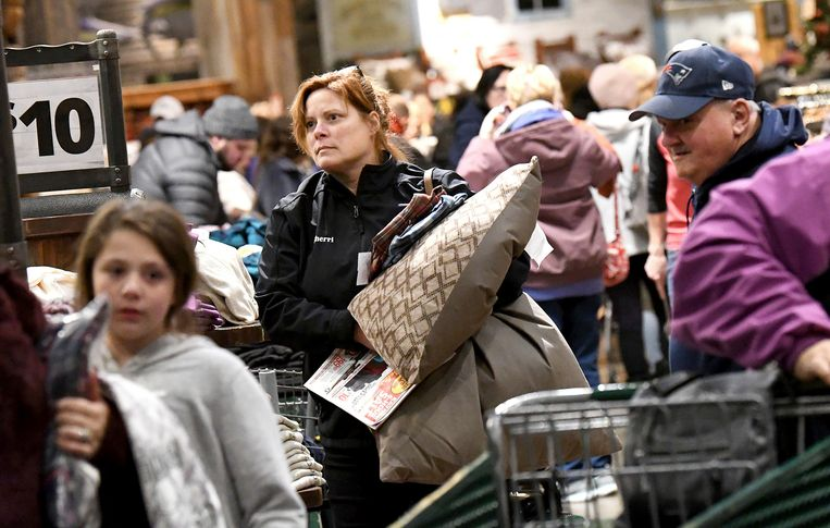 Shoppers op Black Friday.