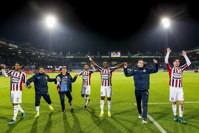 Vreugde na de zege op FC Groningen.